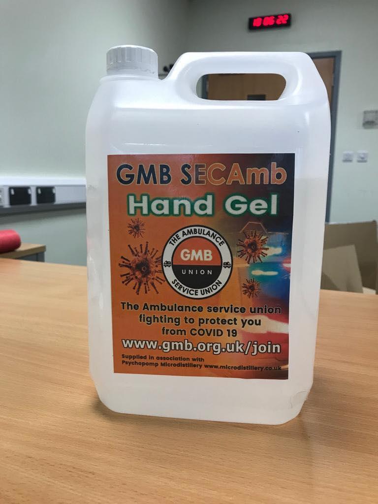 Hand sanitiser secured