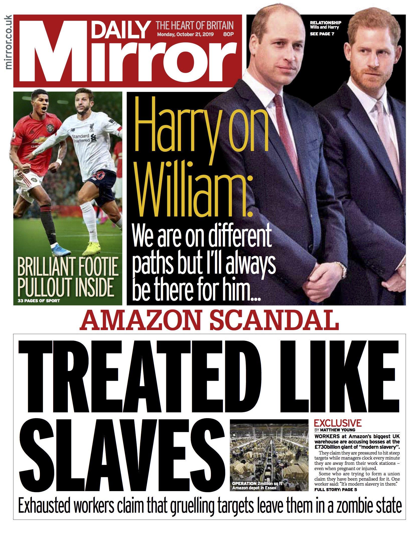Amazon campaign in the Daily Mirror