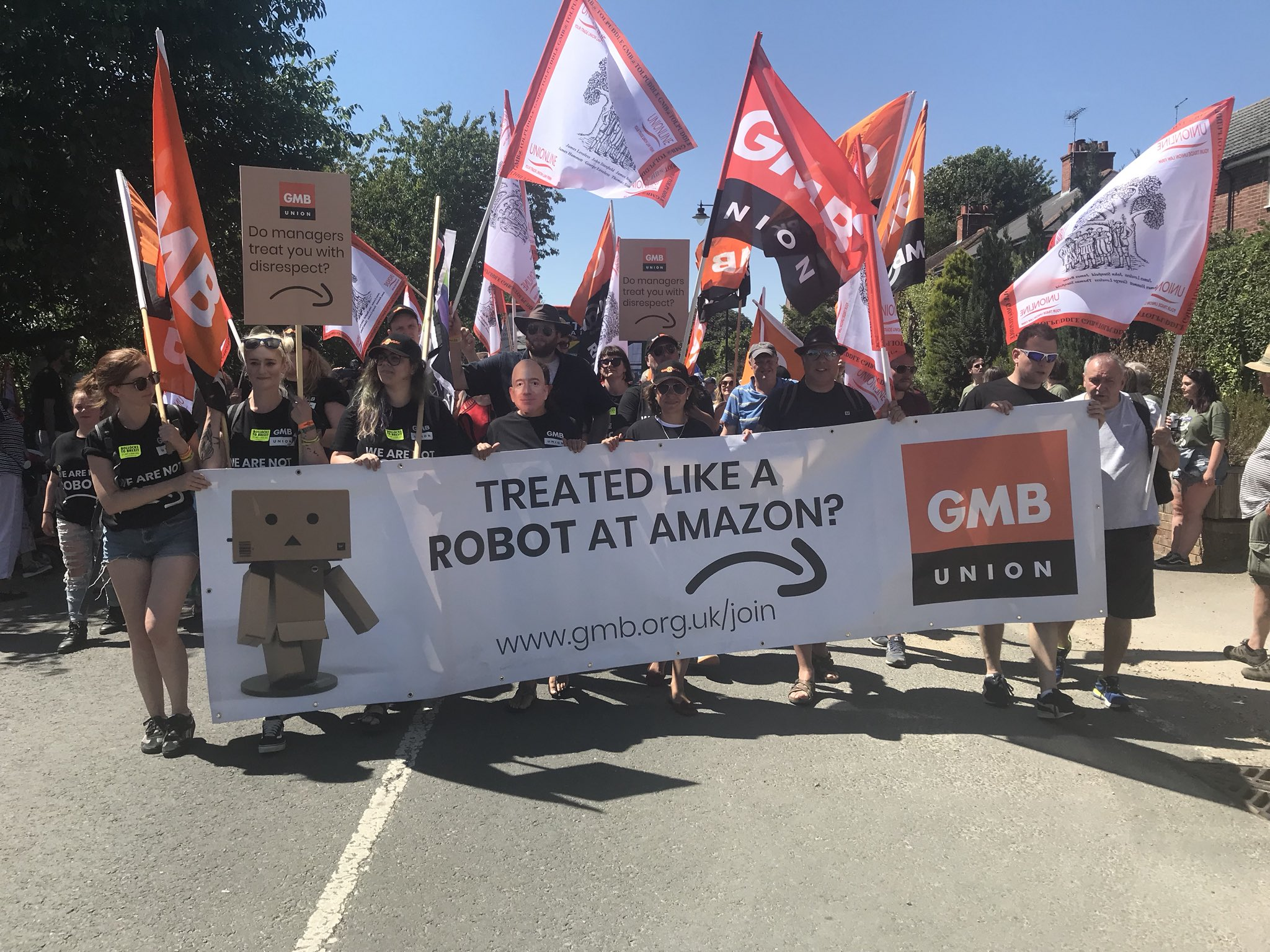 Amazon protest at Tolpuddle