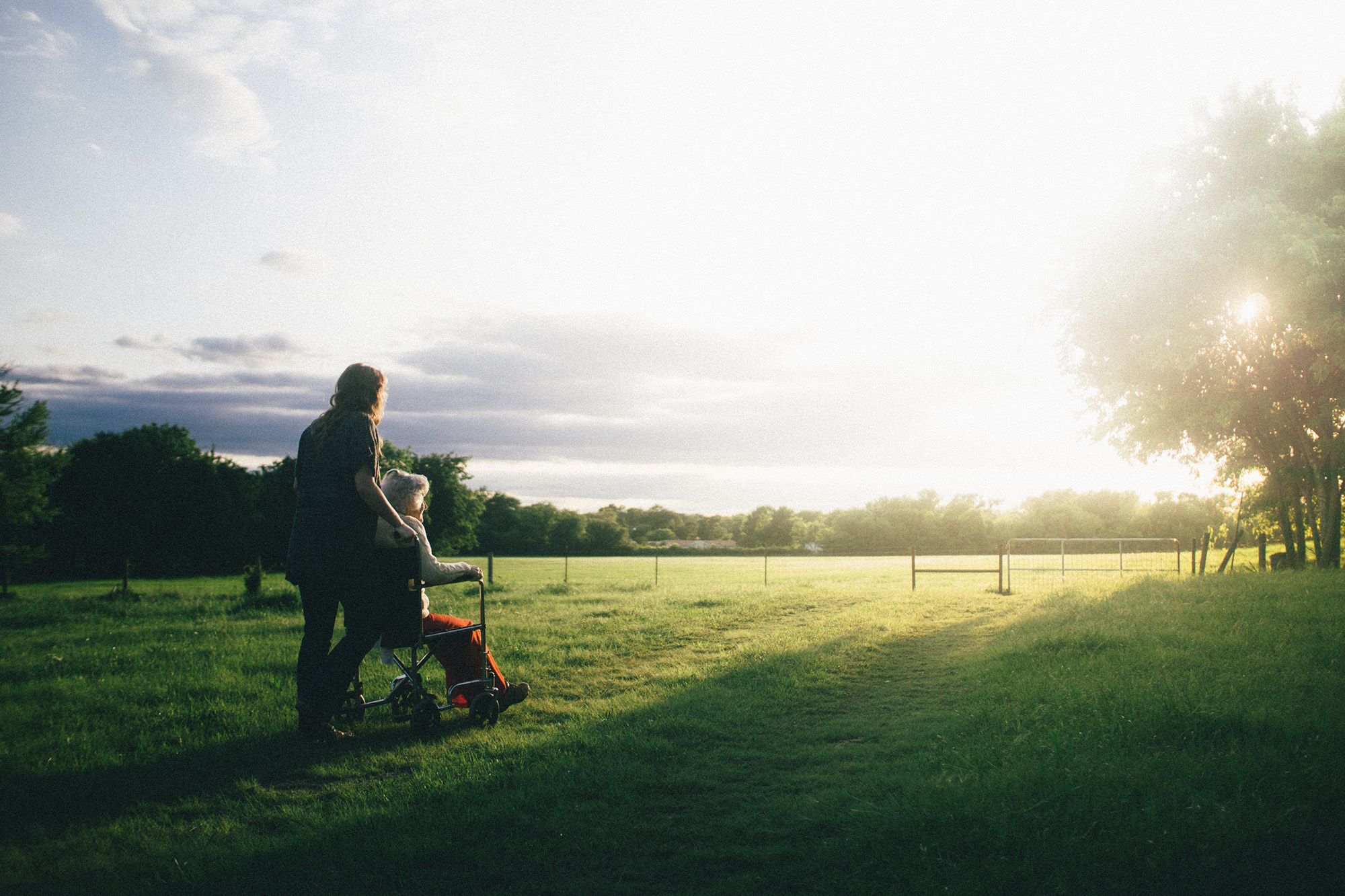 image of carer in field