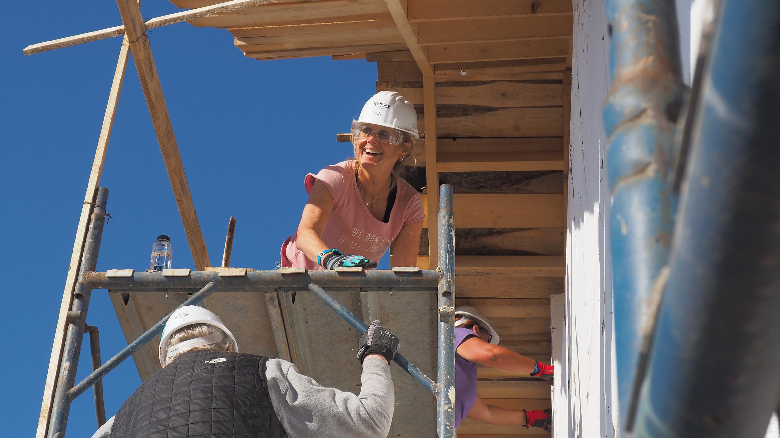 women working in construction
