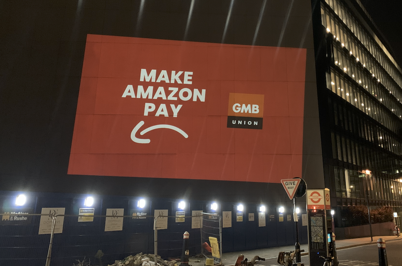 GMB projection on Amazon HQ