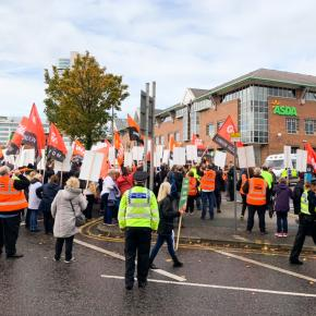 Asda demonstration Leeds