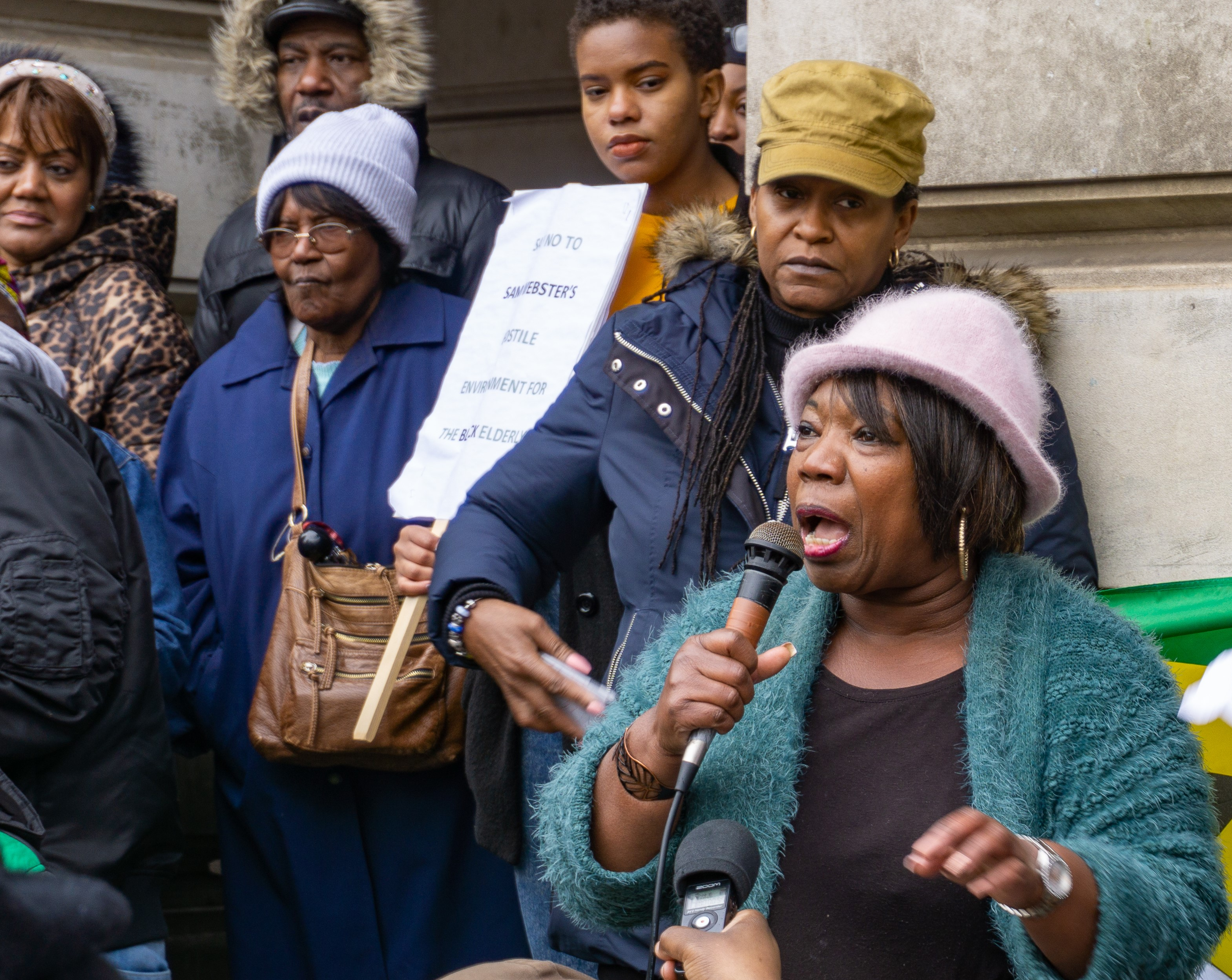 Black women at a Windrush protest